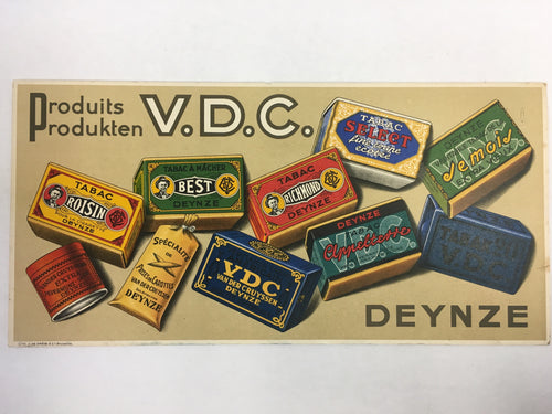 Old TOBACCO Sign, DEYNZE Product V.D.C. Tabac, vintage Cigarette