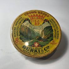 Load image into Gallery viewer, Vintage Crown Brand Swiss Cheese Container