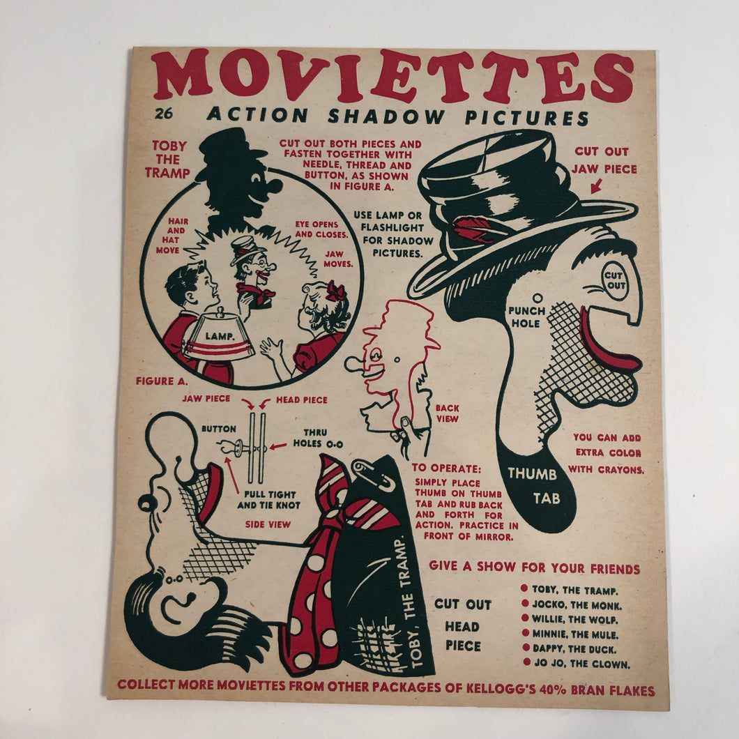 Kellogg's Moviettes Action Shadow Puppets - HOBO
