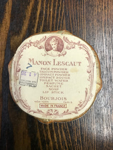 Vintage Beautiful French Make Up Container - TheBoxSF