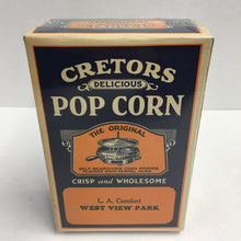 Load image into Gallery viewer, Old CRETORS POP CORN Box, Seasoned, Crisp and Wholesome