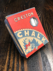 Vintage Creating Crayon Co Chalk Box Cardboard Packaging with Chalk - TheBoxSF