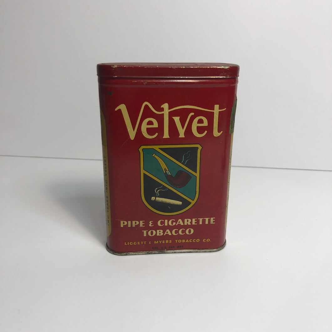 Vintage Great Velvet Tobacco Tin