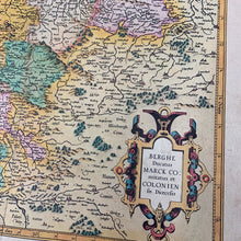 Load image into Gallery viewer, Antique Map of Westphalia || Berghe Ducatus Marck Comitatus et Coloniensis Diocesis, Gerhard Mercator Reprint