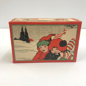 Vintage Merry Xmas Food Packaging Box
