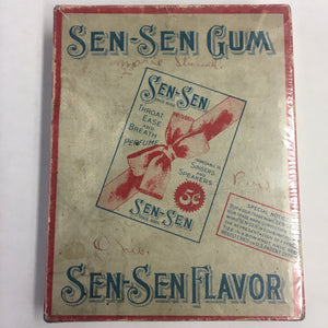 Old SEN-SEN GUM Flavor Box, Throat Ease and Breath Perfume