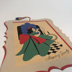 SLEEPING BEAUTY VINTAGE SIGN, WITH HANGER CORD