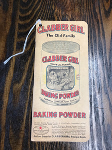 Vintage Clabber Girl Baking Powder Notebook - TheBoxSF