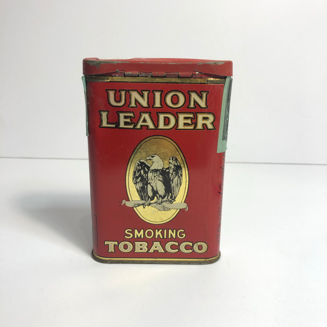 Vintage Great Union Leader Tobacco Tin || EMPTY