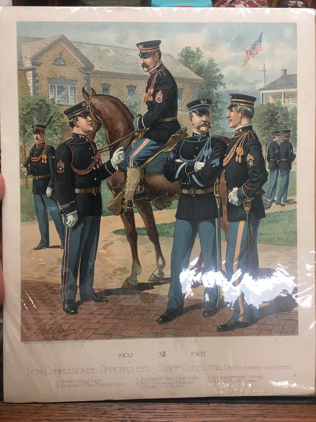 Vintage Non Commissioned Officers ETC - Staff Corps, Print - TheBoxSF