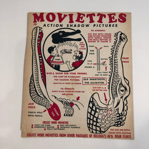 Kellogg's cereal advertising toy Moviettes - Alligator