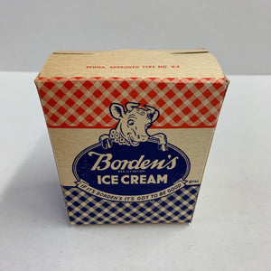Vintage BORDEN's ICE CREAM Box, Dairy, Massachusetts, 1 Pint