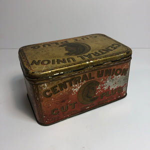 Vintage Central Union Tobacco Tin || EMPTY