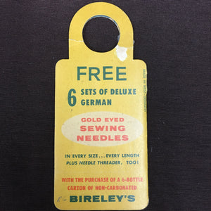 Old vintage German SEWING Needles for Bireley's Fruit Flavored Drinks - TheBoxSF