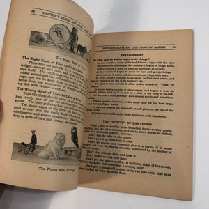Inside - Nestle's Mother Book 1923 Child Rearing and Care