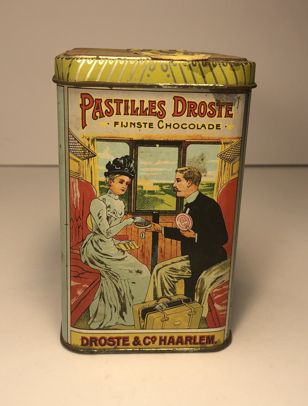 Amazing Antique DUTCH DROSTE'S COCOA/ CHOCOLATE TIN - Antique Packaging