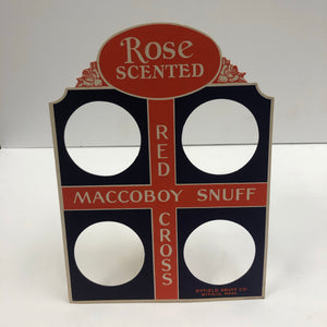 Red Cross Maccoboy Snuff Store Display, Front