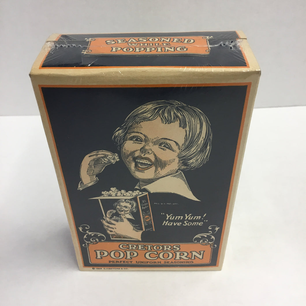 Old CRETORS POP CORN Box, Seasoned, Crisp and Wholesome