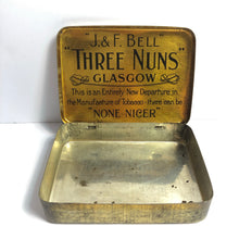 "Load image into Gallery viewer, Inside of Three Nuns tin ""None nicer"""