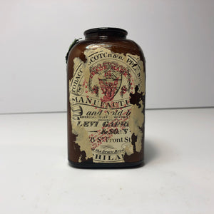 Vintage  Cool Tobacco Scotch Bottle