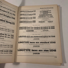 Load image into Gallery viewer, LINOTYPE ONE-LINE SPECIMENS BOOK