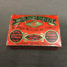 Load image into Gallery viewer, Old Vintage, Rival HERB TABLETS TIN, Medicine for Family - TheBoxSF