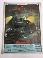 Load image into Gallery viewer, Old Sheet Music, The MIDNIGHT FLYER March Two Step, Colorado Express TRAIN