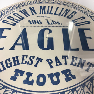 Old Vintage, EAGLE FLOUR Barrel Label, Crown Milling Co. - TheBoxSF