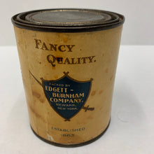 Load image into Gallery viewer, Old Edgett Burnham Brand SPINACH Tin, Packaging