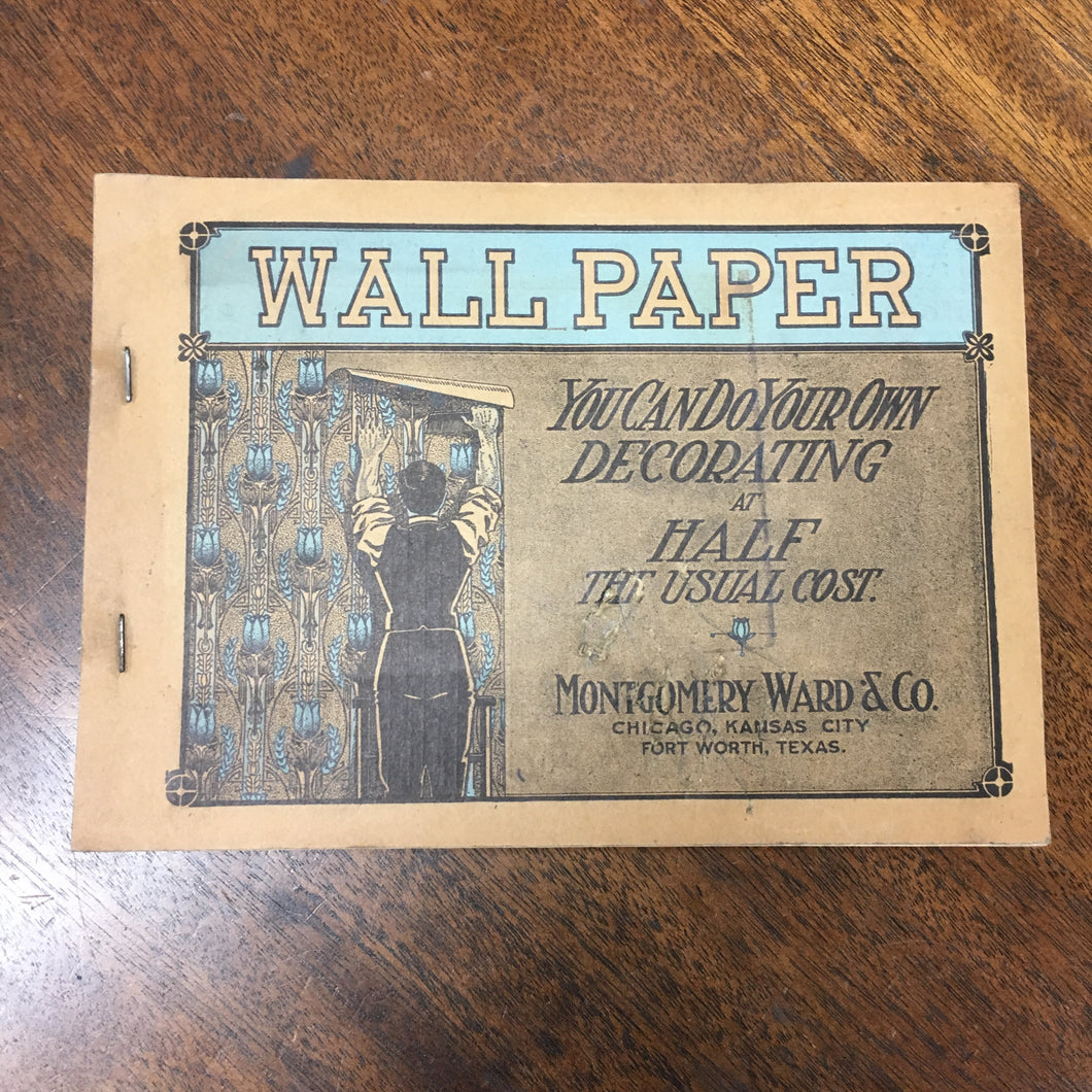 Old WALLPAPER Catalog, Decorating, Patterns, Montgomery Ward - TheBoxSF