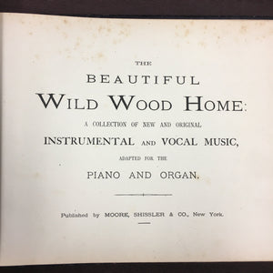 Old, Beautiful Wild Wood Home, Music Book - TheBoxSF