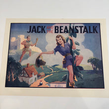 Load image into Gallery viewer, JACK AND THE BEANSTALK Small Poster Advertisement || Giant and Pinup Lady