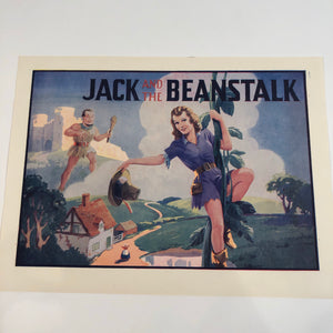 JACK AND THE BEANSTALK Small Poster Advertisement || Giant and Pinup Lady