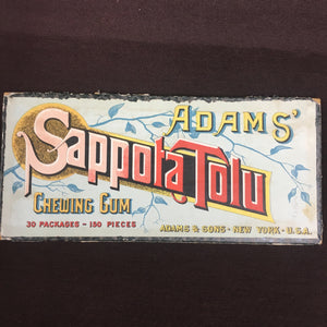 Adams Sappota Tolu CHEWING GUM (piece of original Box) | Packages - TheBoxSF