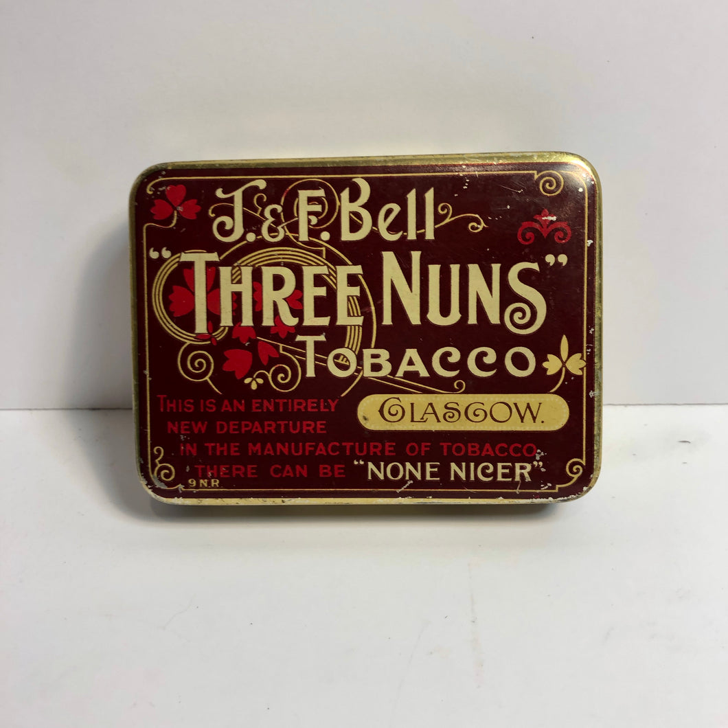 Three Nuns Tobacco tin from the front
