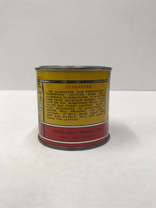 Vintage Bergmann Shoe Grease Tin Packaging by Berg-Shu Products in Portland, Oregon