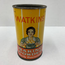 Load image into Gallery viewer, Old Watkins Pure Baking Powder Tin, Packaging