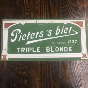 Old Pieters's Bier Triple Blonde SIGN, Beer - TheBoxSF