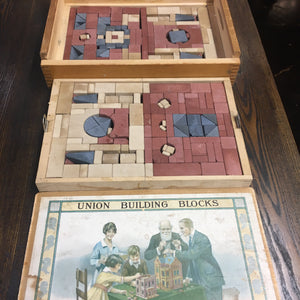 Union Building Blocks, Adult and Children Game, Block House, Old Vintage - TheBoxSF