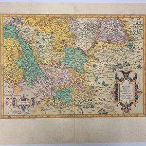 Antique Map of Westphalia || Berghe Ducatus Marck Comitatus et Coloniensis Diocesis, Gerhard Mercator Reprint