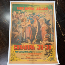 "Load image into Gallery viewer, Mexican Movie Poster, ""Carabina 30-30,"" 1958 
