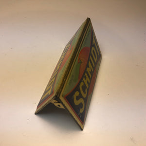 Vintage Schmidt Orange Advertising Sign