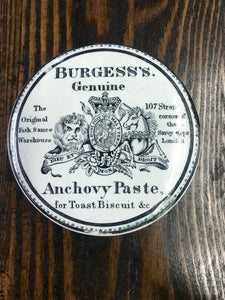 Antique Burgess's Genuine Anchovy Paste Croc - TheBoxSF