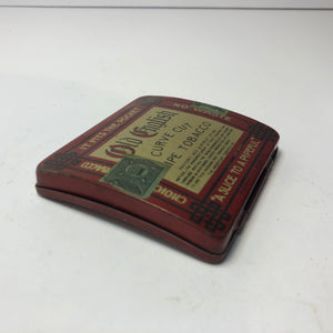 "OLD ENGLISH Pipe Tobacco Tin, Curve Cut, ""A Slice to a Pipeful"" 