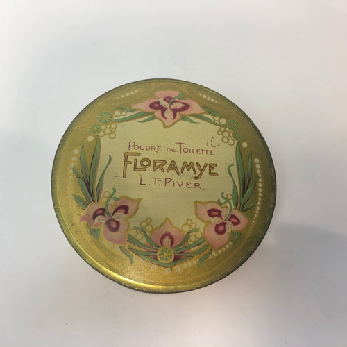 Vintage French FLORAMYE POUDRE DE TOILETTE Cosmetic Powder - Containing Original Product