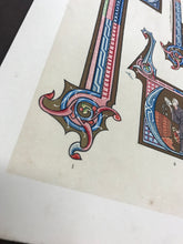 Load image into Gallery viewer, Bookplate featuring illuminated letters - detail
