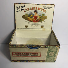 Load image into Gallery viewer, Vintage Canario D'Oro Tobacco Box || EMPTY