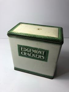 Amazing Antique EDGEMONT CRACKER TIN, Original Antique Packaging