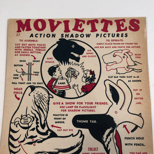 A closer look at Moviettes promotional Tiger shadow puppet