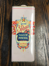 Load image into Gallery viewer, Vintage Weyer's 3 Roses Talcum Powder Tin Packaging - TheBoxSF